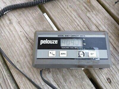Pelouze Dymo Heavy Duty Scale Model 4040 - 400 Lb Capacity. 9v Powered Works
