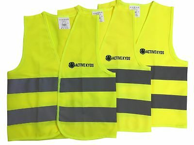 Active Kyds 3 Pack Medium High Visibility Kids Safety Vest for Construction](Construction Vest For Kids)