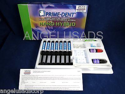 Dental Nano Hybrid Composite Complete Set Kit 7 Syringe Prime Dent