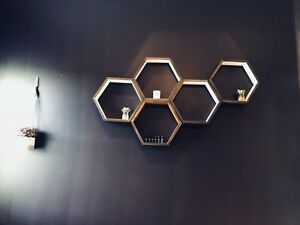 Custom made hexagon shelf