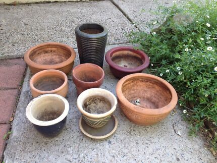 8 Various Small Pots Morpeth Maitland Area Preview