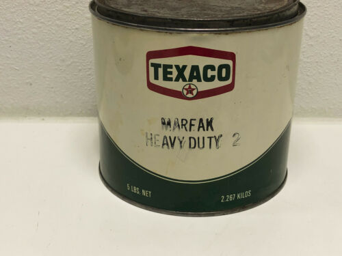 Vintage Texaco 5 lb Can Marfak Heavy Duty 2