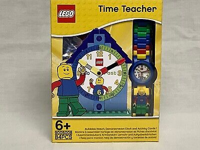 LEGO 9005008 Time Teacher Blue Kids Buildable Watch Demonstration Clock