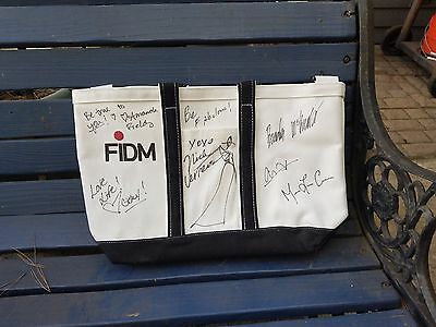 (FIDM Tote Bag Signed by Designer Nick Verreos (from Project Runway) and Models)