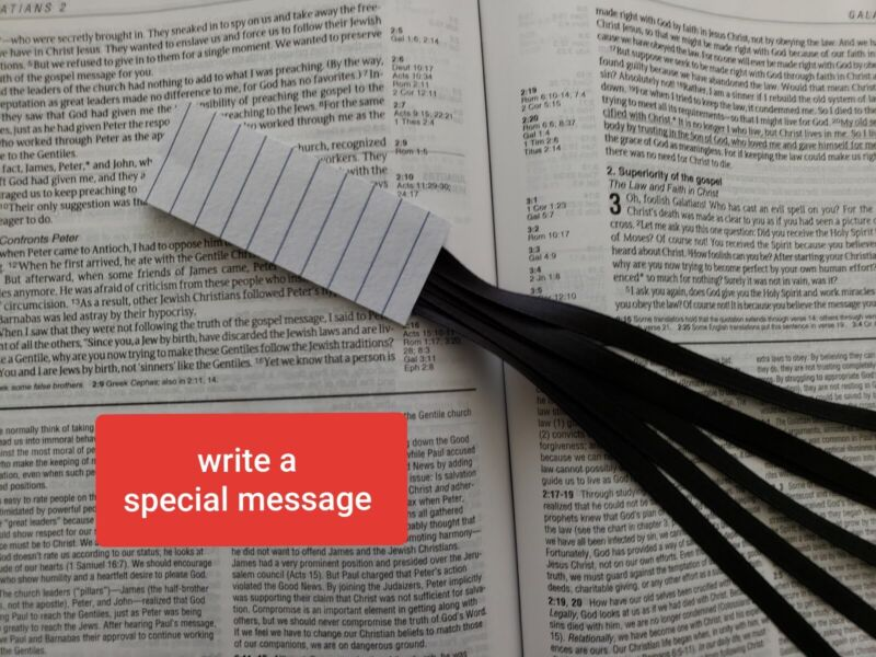 TEACHER bookmark navy blue ribbons multi page, Bible, textbook, gift, handmade