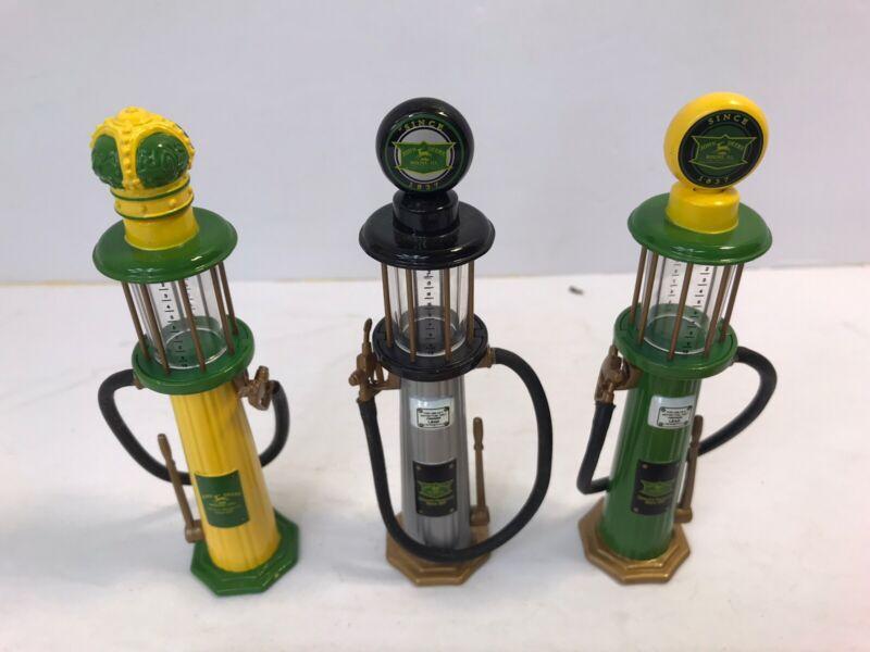 """John Deere Gas Pumps - Set Of 3 - 5"""" Tall"""