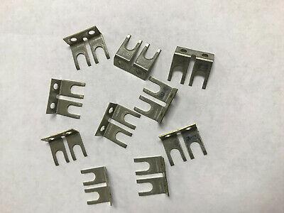 Lot Of 10 Bussmann Jc1-02-j 2-pos Spade Jumper For Terminal Blocks Barrier