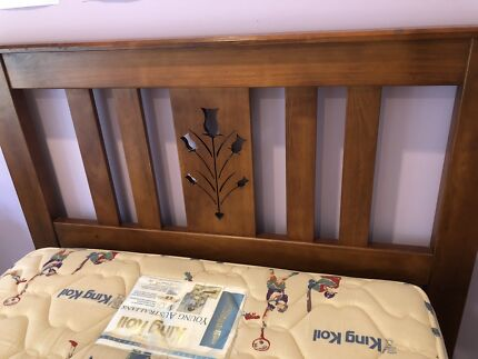 Timber King Single Bed and Mattress