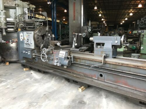 """32""""x120""""cc National Hollow Spindle Lathe, 9"""" Hole, Taper, 4 Jaw Chuck"""
