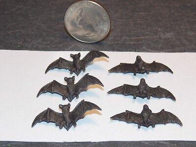Dollhouse Miniature Halloween Bats 6 Detailed 1:12 In Scale H138 Dollys Gallery](Plastic Bats Halloween)