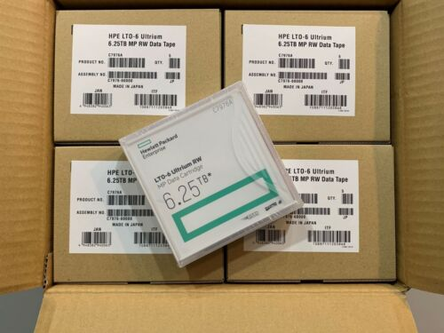 NEW- ORIGINAL HP/ HPE LTO-6 (20 PACK) C7976A Backup Data Tape - FACTORY SEALED