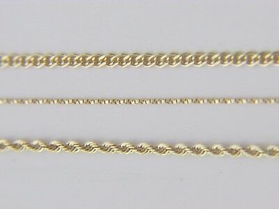 Real 10Kt Yellow Gold ROPE / TWISTED BOX / NONNA Chain Necklace real gold