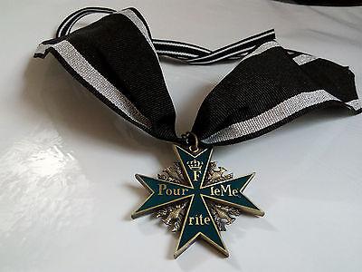 Orden Pour le Merite Ordenskreuz mit Band Exzellente Anfertigung!!!