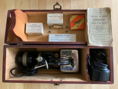 Antique Willcox & Gibbs Noiseless Automatic Sewing Machine