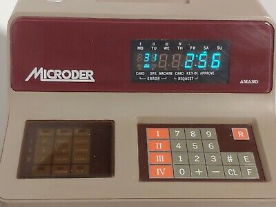Amano Microder Mr 7520 Employee Time Punch Clock No Key