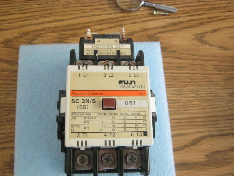 Fuji Electric Model: 65 Magnetic Contactor.  P/N: SC-3N/S.  <