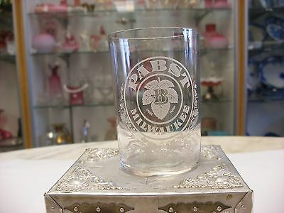 Pabst Brewing Co. Milwaukee WI Brewery Pre Pro Etched Beer Glass