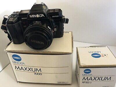 Minolta Maxxum 7000 35mm SLR Film Camera With 50mm f/1.7 Lens for sale  Harrisonburg