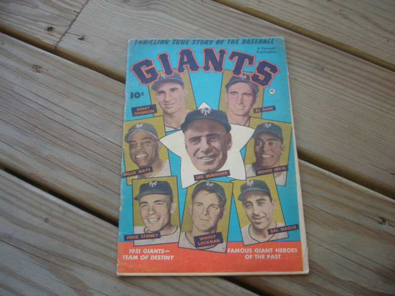 1952 A Fawcett Publication Thrilling True Story of the Baseball Giants Comic