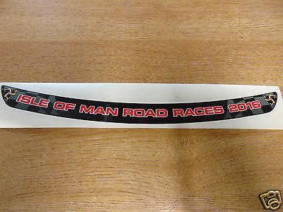 Isle of Man Road Races 2016 - TT Visor Decal Sticker - BLACK + RED