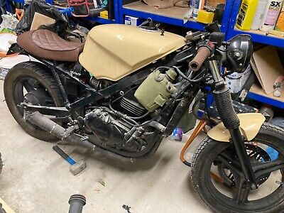Kawasaki gpz 550 cafe racer and donor bike
