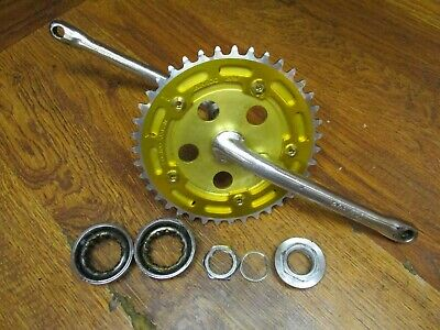 BMX Cruiser ashtabula one piece crankset Chainring 44t 44 Steel Yelllow  1//8