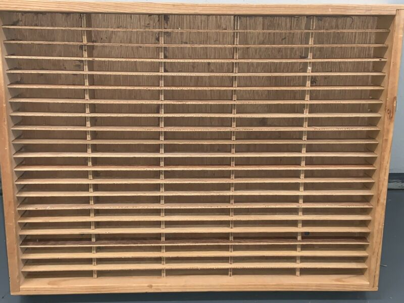 Napa Valley Wooden 100 Slot Cassette Tape Storage Rack Case Holder