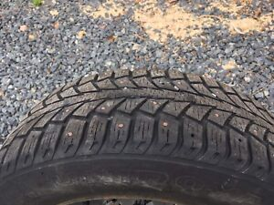4x Studded Uniroyal Tiger Paw II Ice + Snow Winter Tires
