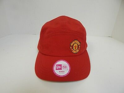New Era  Manchester United WOMEN Red w Red/Gold Logo Five Panel Adjustable Cap