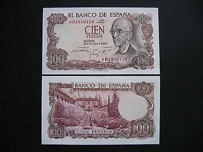 SPAIN  100 Pesetas 17.11.1970  (P152a)  UNC