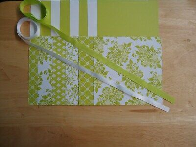 Stampin Up FRESH FLORALS LEMON LIME TWIST 6 X 6