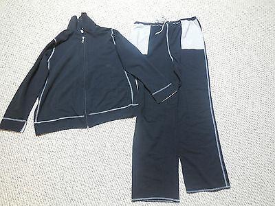 Duo  Maternity Black Gray Large Sweatshirt And Sweatpants Set