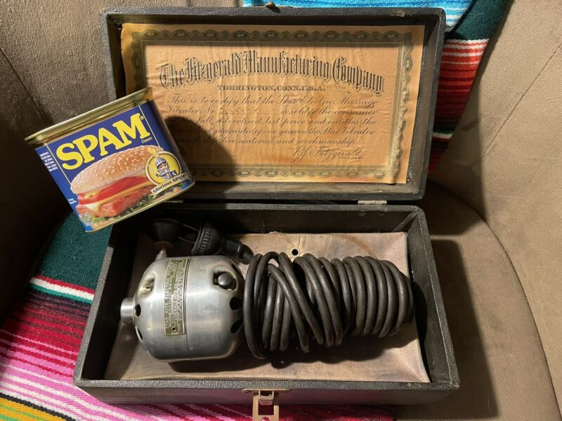 Vintage IN BOX Star Rite Electric Vibrator Massager~The Fitzgerald Mfg Co RARE