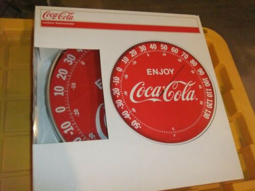 "Coco Cola Outside Thermometer New IN Box 15"" Round"