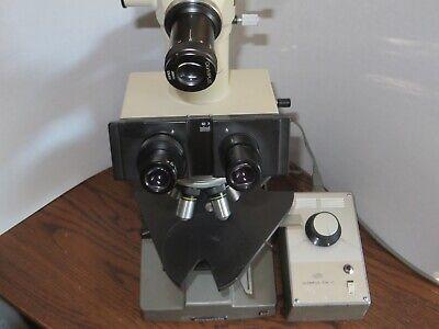 Olympusbxtrinocularcompound Microscope With Reflected Brightfield Illuminator