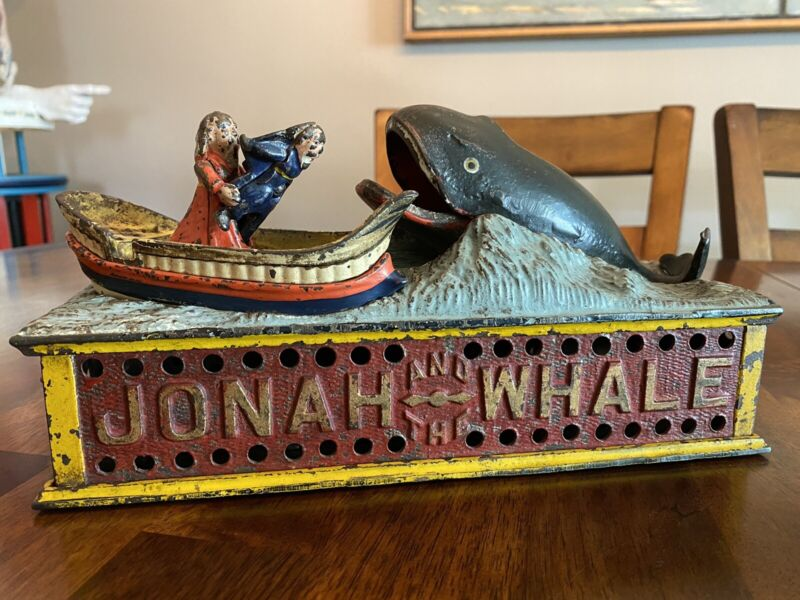 Original 1890 Jonah and the Whale mechanical bank