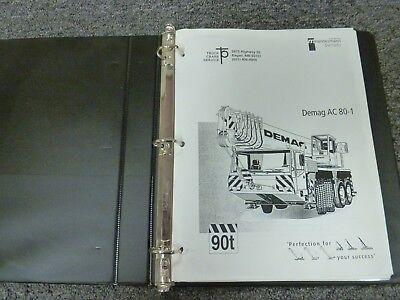 Demag Ac 80-1 Mobile All Terrain Crane Load Chart Capacities Manual Book