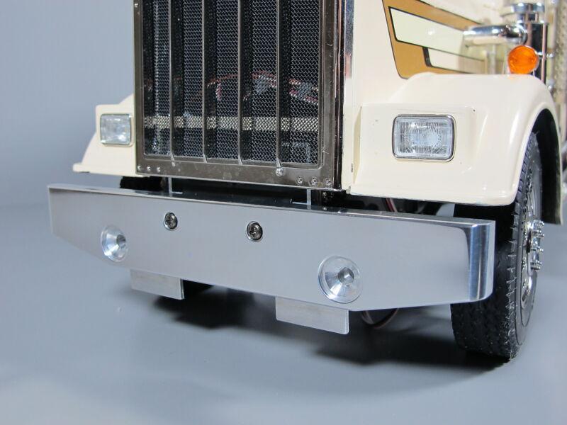 Aluminum Front Lower Bumper Guard Tamiya 1/14 Semi King Grand Hauler Globeliner