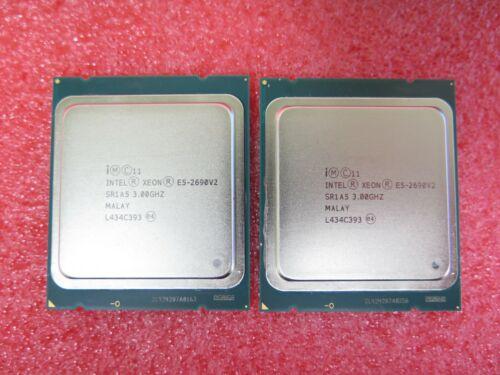 Matched pair of Intel Xeon E5-2690 v2 SR1A5 3.00GHz LGA2011 CPU Processor
