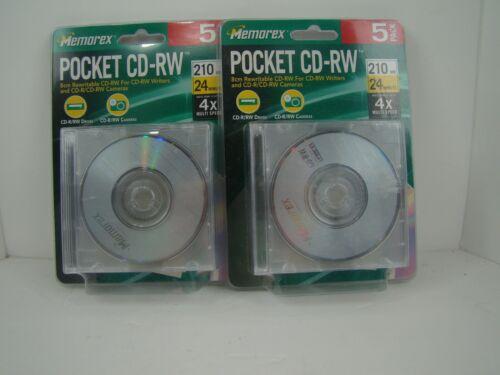 Set of 2 - 5 Pack Memorex Pocket CD-RW