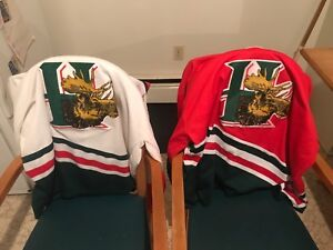 Vintage Halifax home and away jerseys Moosehead's