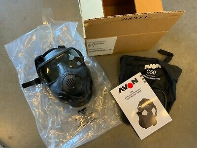 New Avon Protection C50 Single Port Cbrn Gas Mask Respirator With Bag Size Large