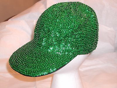 BASEBALL CAP HAT KELLY GREEN GLITTERING SEQUIN ST PATRICKS DAY / CHRISTMAS](Sequin Baseball Hat)