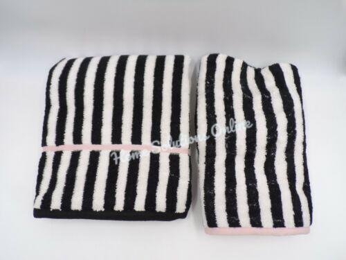 Pottery Barn Emily & Meritt Pirate Striped Hand Towel w Hair Wrap Black #7625T