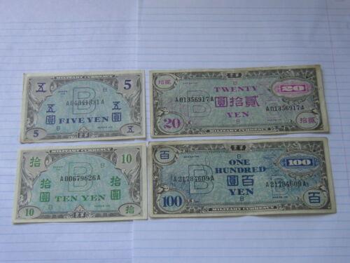 Lot of 4 World Paper Money #619