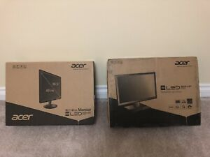 "2x Acer 18.5"" LED Monitors"
