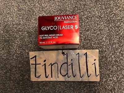 NEW Jouviance Restructiv Soft Peel Night Cream Glyco Laser 5  1.7 fl. oz.