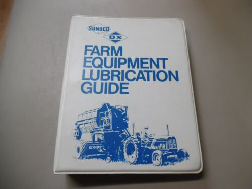 Vtg SUNOCO DX SUN OIL CO FARM EQUIPMENT LUBRICATION GUIDE IH John Deere Case ++