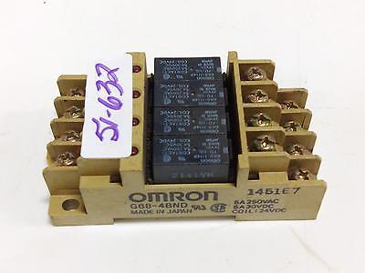 OMRON  5A 250VAC COIL 24VDC RELAY BLOCK G6B-4BND