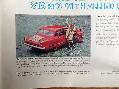 1960 Allied Chemical Ad Something Old Something New  Car Styles May Change
